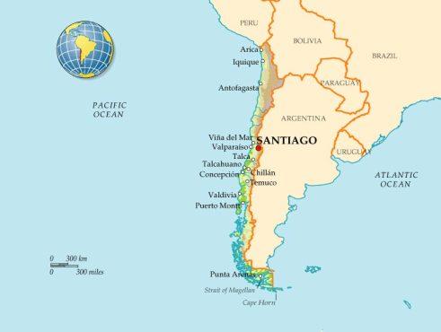 Чили на карте