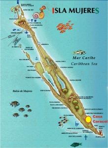 isla-mujeres-casa-caracol-mapa