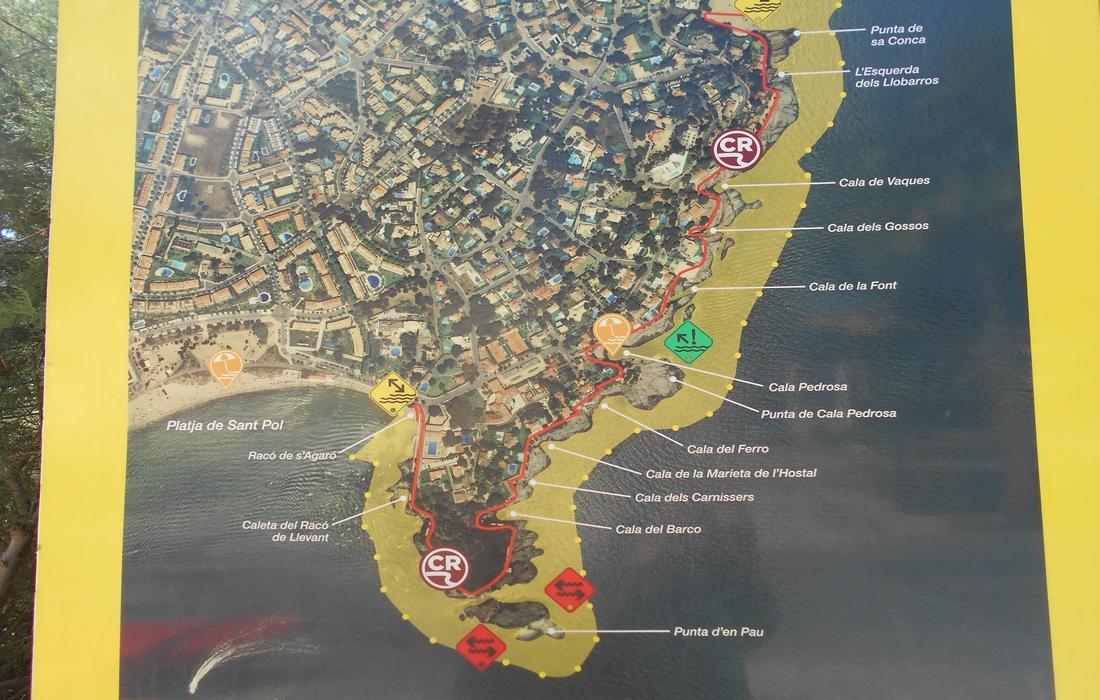 План набережной Ками-де-Рондо
