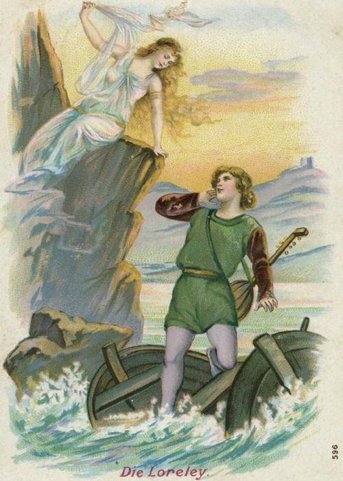 Рыцарь и Лорелея, картина
