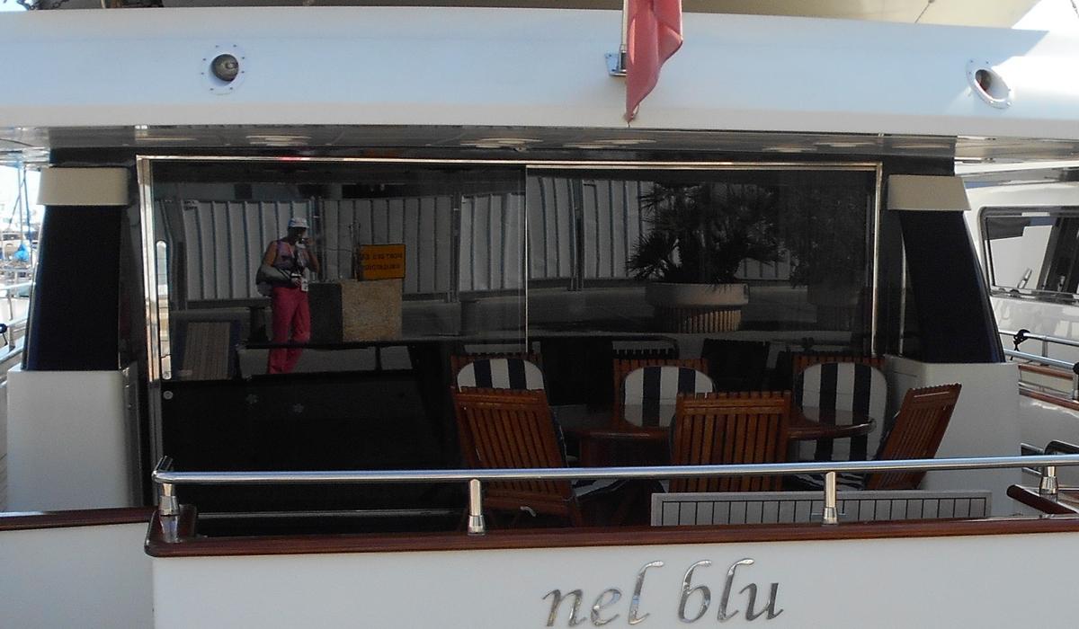 отражение в яхте