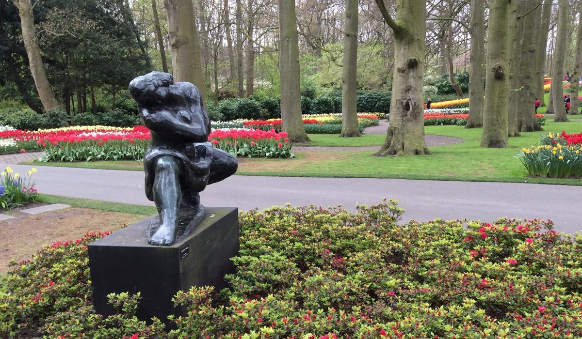 парк Кёкенхоф - скульптура