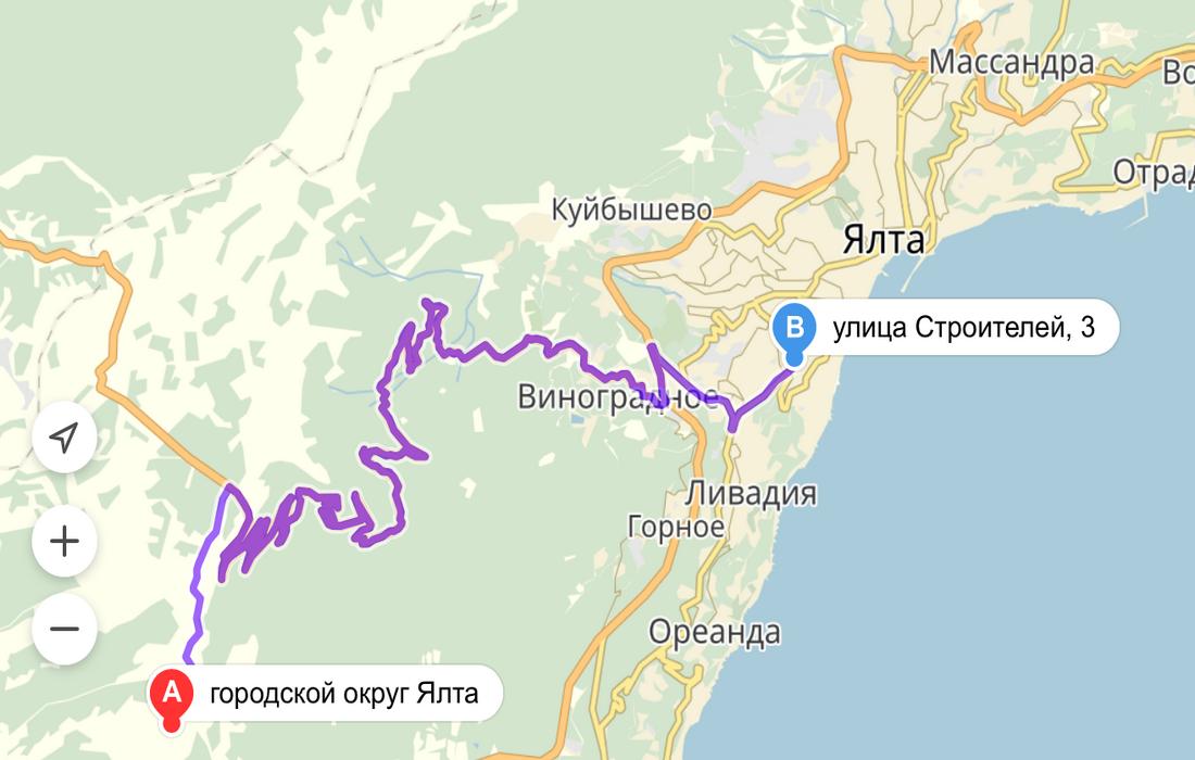 маршрут из ялты на ай-петри